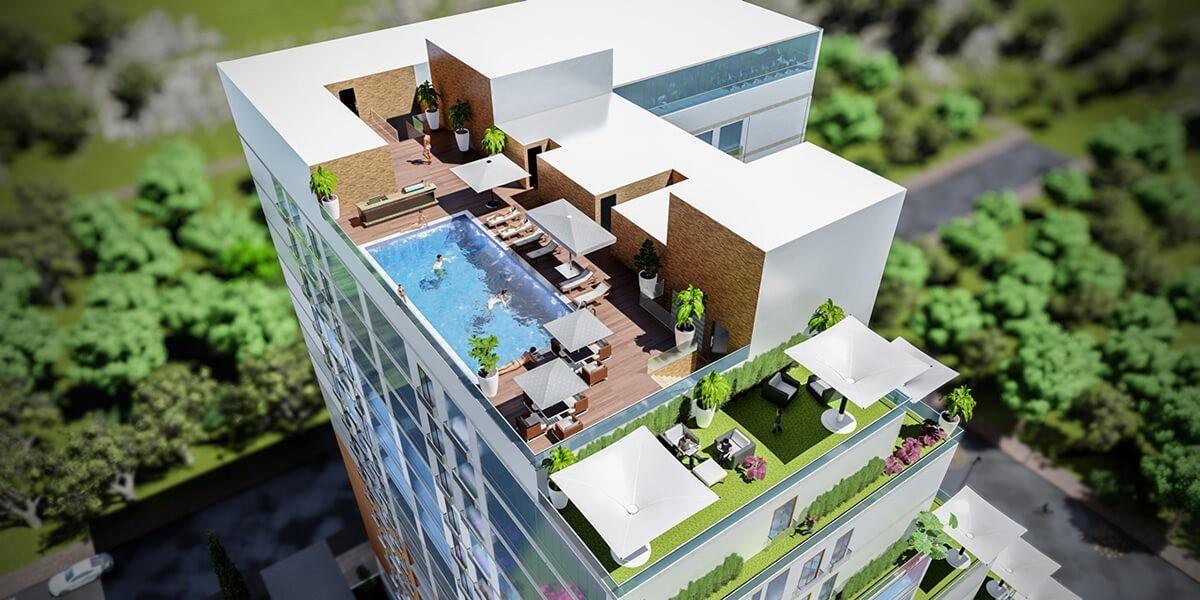 مفهوم الراحة الفندقية في مشروع سكني