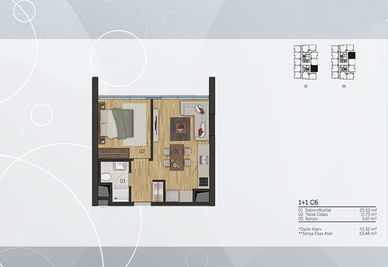 Residential project at a special discount for 100 apartments