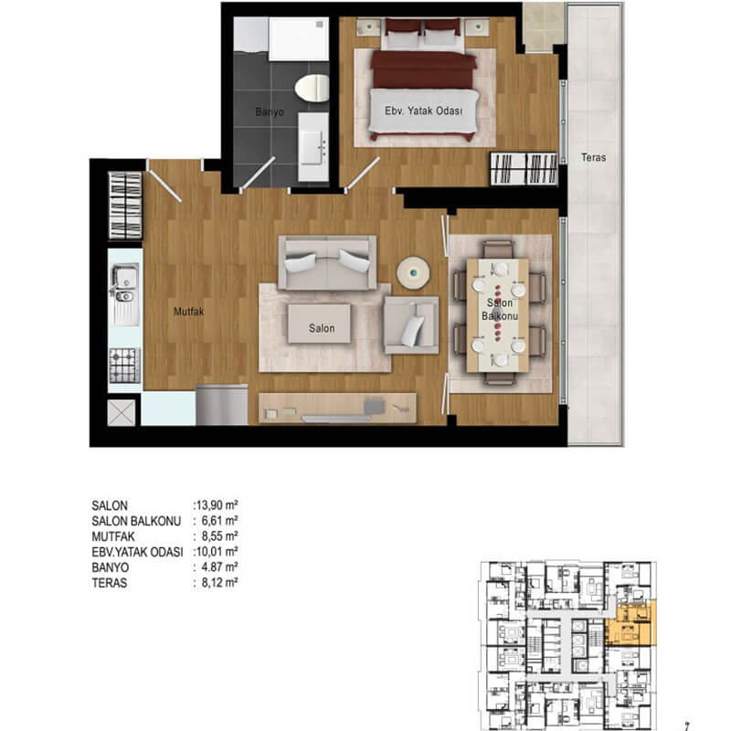 Apartments with a convenient installment and guarantee of Connaught property