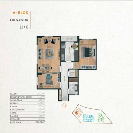 فرصة تملك شقة في مشروع متميز في وسط اسطنبول