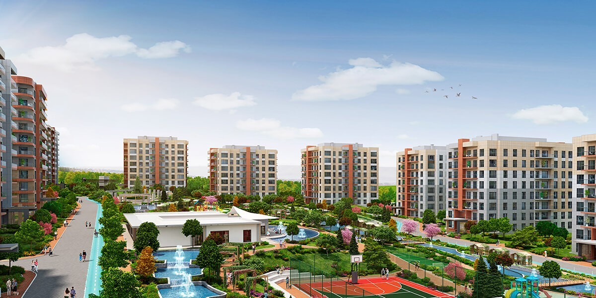 The concept of integrated life in a residential project