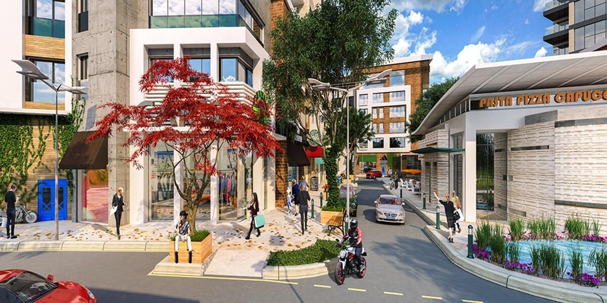 مفهوم التسوق المريح على شواطئ اسطنبول