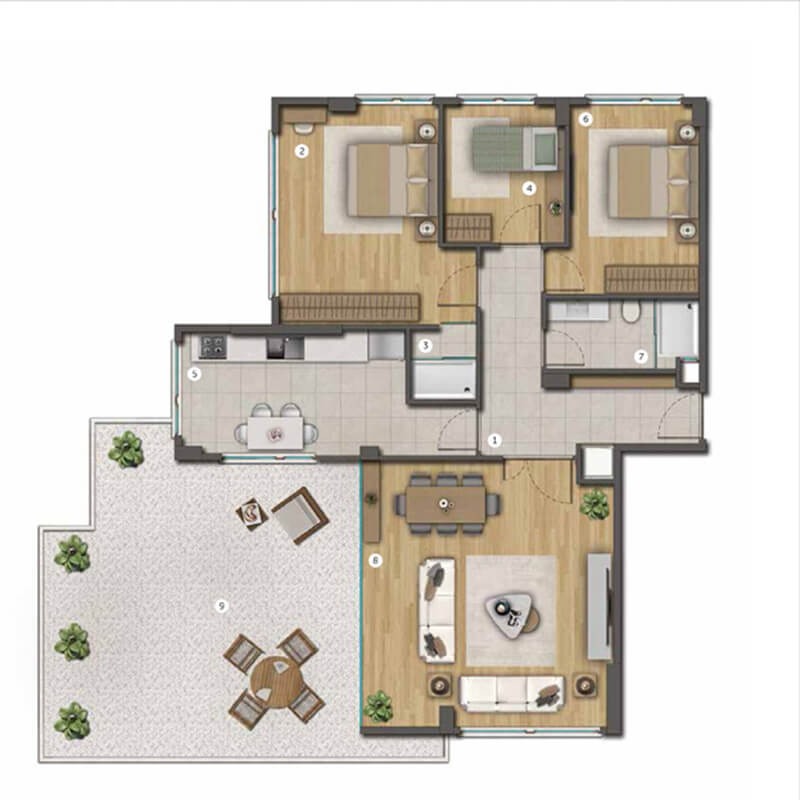 Residential commercial project in the center of Istanbul