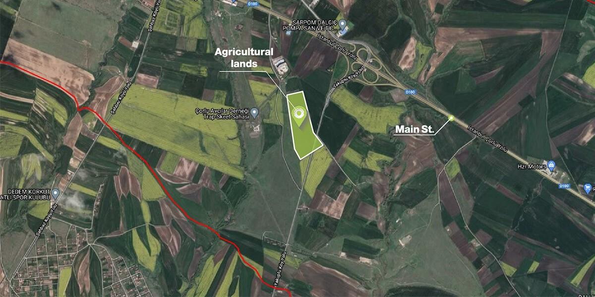 أرض زراعية في تكرداغ T-1-9