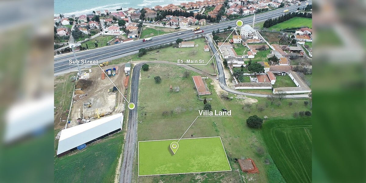 Land Villa imarlı Sea view in Silvery L-1-94